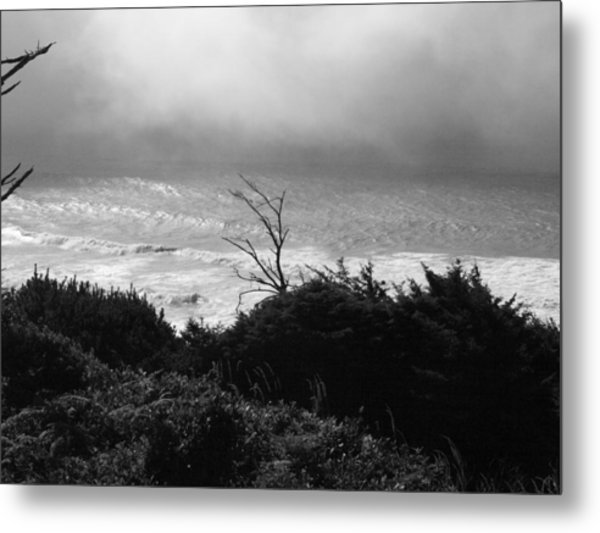 Waves Upon The Land Metal Print