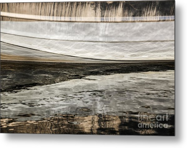 Wavy Reflections Metal Print