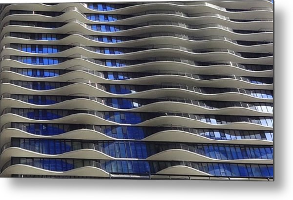 Wavy Windows Metal Print