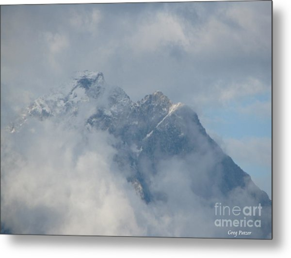 Way Up Here Metal Print by Greg Patzer