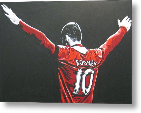 Wayne Rooney - Manchester United Fc 2 Metal Print