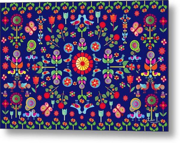 Wayuu Tapestry Metal Print