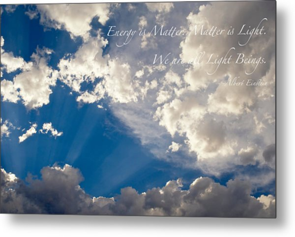 Metal Print featuring the photograph We Are All Light Beings by Mary Lee Dereske
