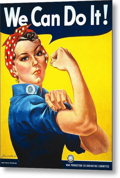 We Can Do It Metal Print by J Howard Miller