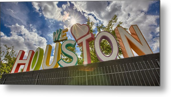 We Love Houston Metal Print