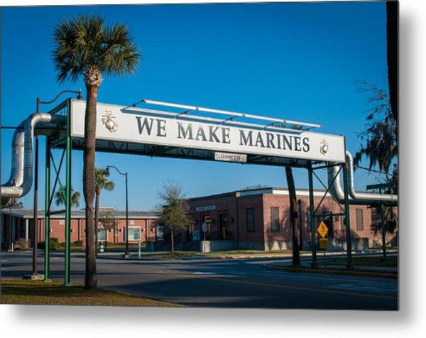 We Make Marines Metal Print