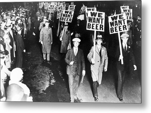 We Want Beer Metal Print