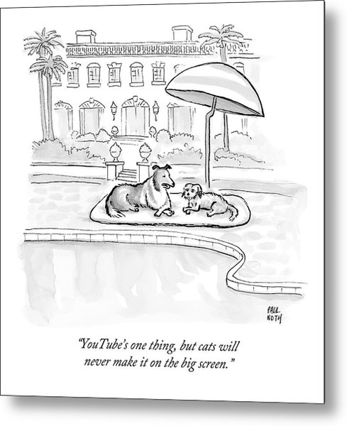 Wealthy Dogs Discuss Cats In Hollywood Metal Print