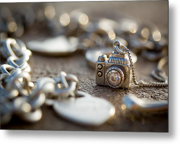 Wear Your Camera Metal Print by April Reppucci