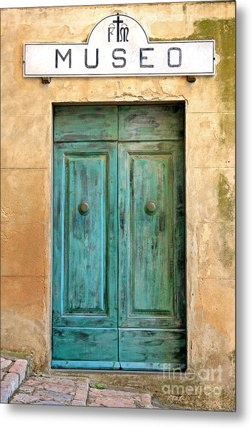 Weathed Museo Door Metal Print