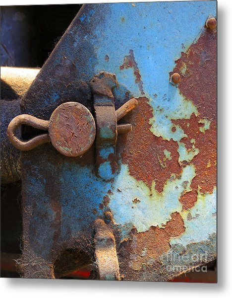 Weathered And Aged Metal Print