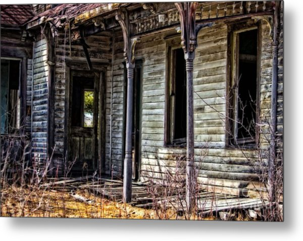Weathered And Worn Metal Print