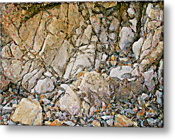 Weathered Rock Face Owlshead Metal Print by Peter J Sucy