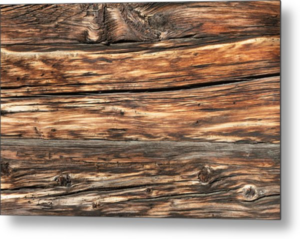 Weathered Wood 6 Metal Print by Charles Lupica