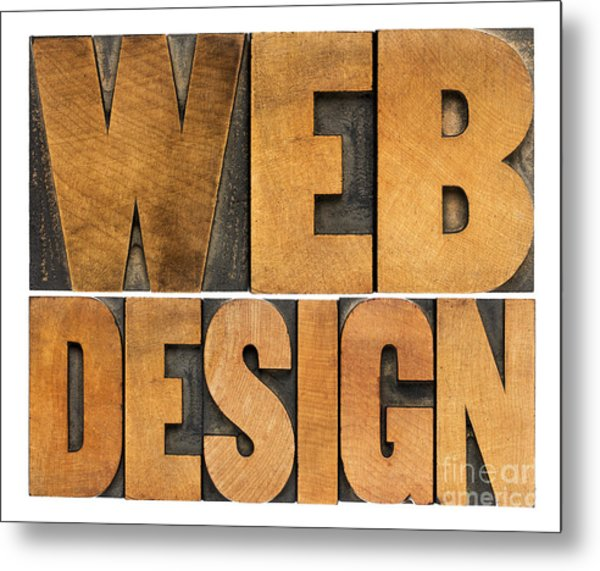 Web Design  Metal Print
