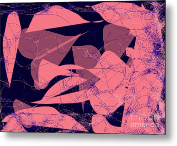 Metal Print featuring the digital art Web Of Love II by Ilona Svetluska