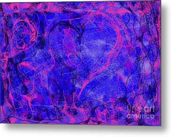 Metal Print featuring the digital art Web Of Love V by Ilona Svetluska