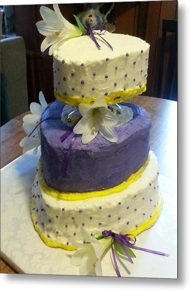Wedding Cake For May Metal Print