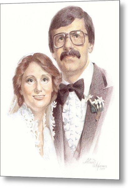 Wedding Portrait. Commission. Metal Print