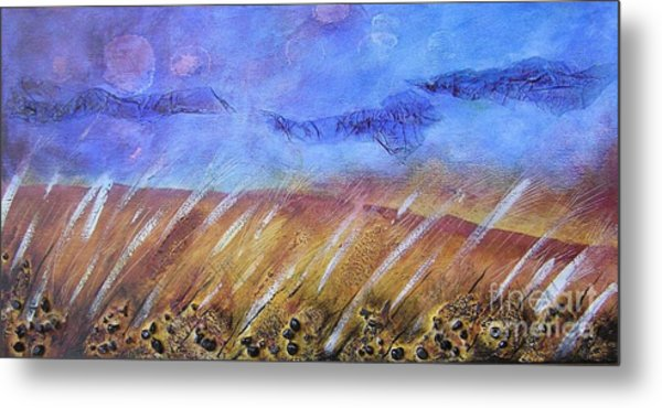 Weeds Among The Wheat Metal Print