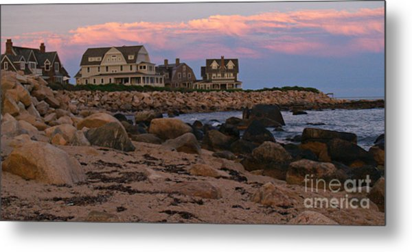 Weekapaug Ri Sunset Panorama Metal Print