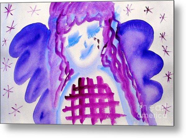 ...weeping Angel... Metal Print by Jutta Gabriel