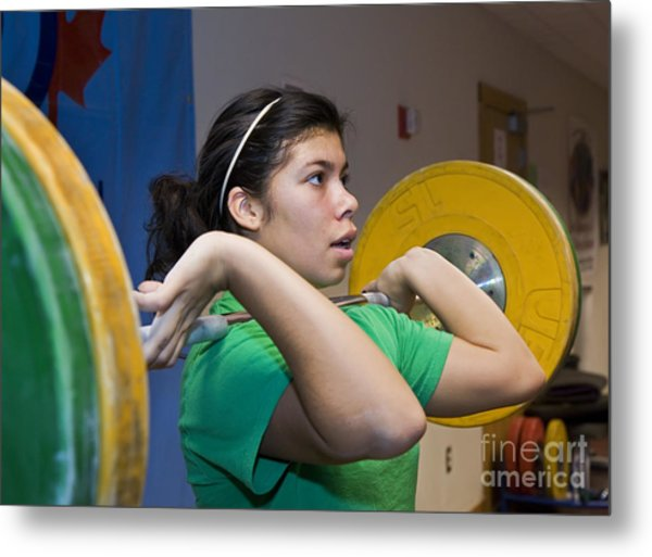 Weightlifter Metal Print