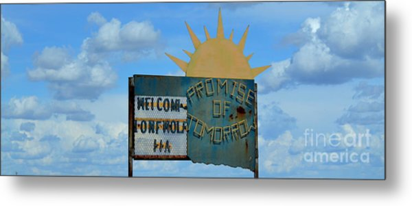 Hometown Welcome Metal Print