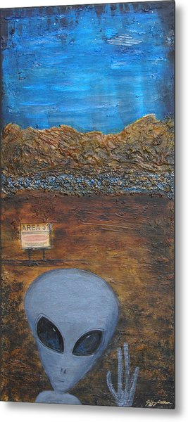 Welcome To Area 51 Metal Print by Jeffrey Oldham