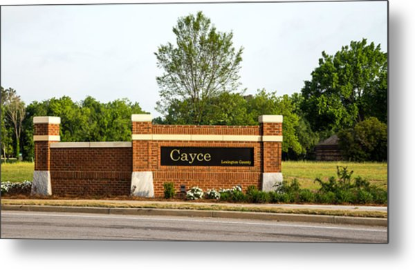 Welcome To Cayce Metal Print