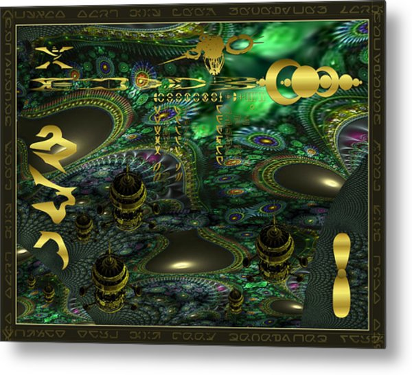 Welcome To Cosmic City Metal Print