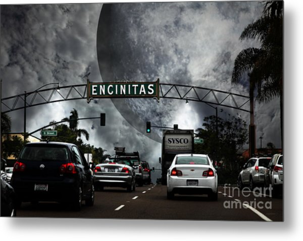 Welcome To Encinitas California 5d24221 Metal Print