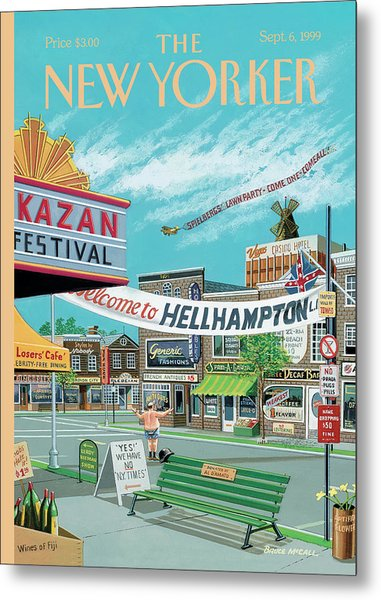 Welcome To Hellhampton Metal Print by Bruce McCall
