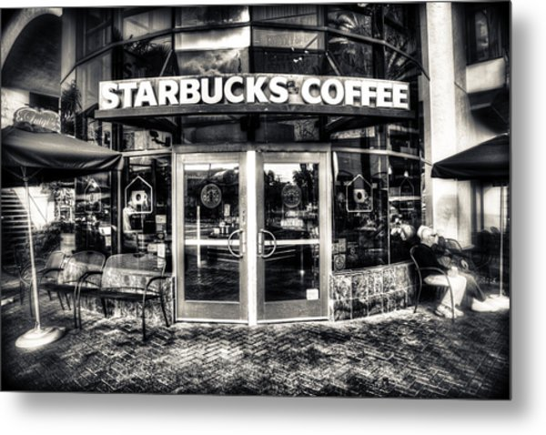 Welcome To Starbucks Metal Print