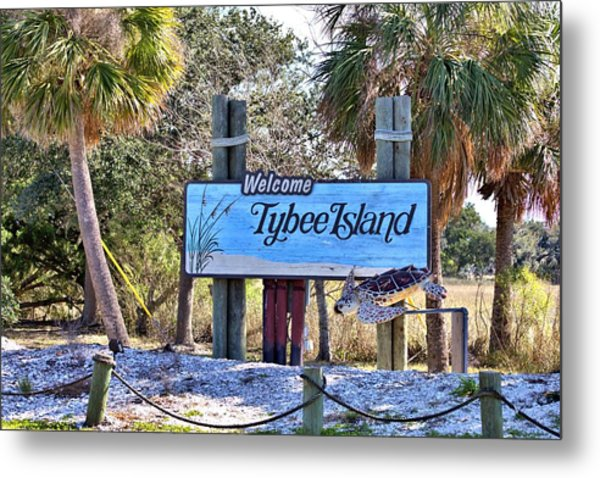 Welcome To Tybee Metal Print