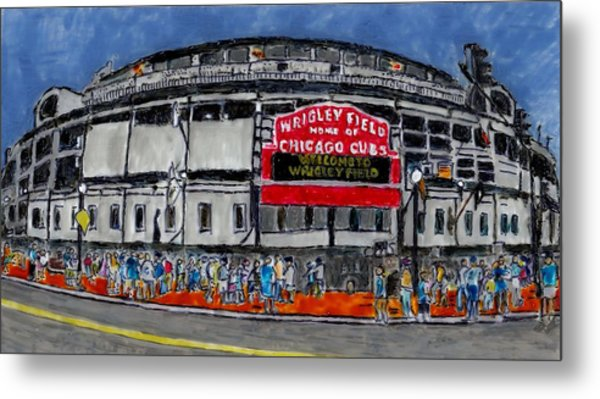 Welcome To Wrigley Field Metal Print