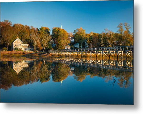 Wellfleet Reflection Metal Print