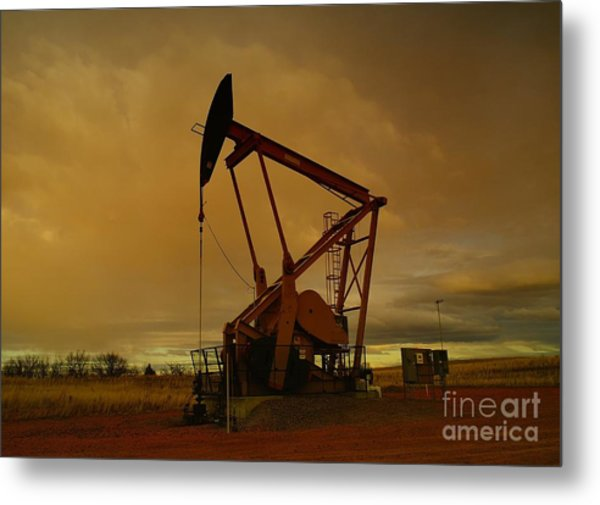 Wellhead At Dusk Metal Print
