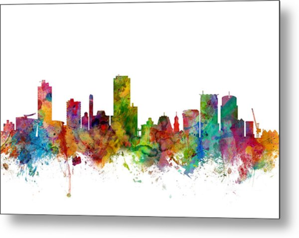 Wellington New Zealand Skyline Metal Print