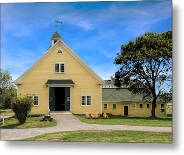 Metal Print featuring the photograph Wells Reserve Barn by Jemmy Archer