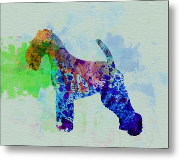 Welsh Terrier Watercolor Metal Print