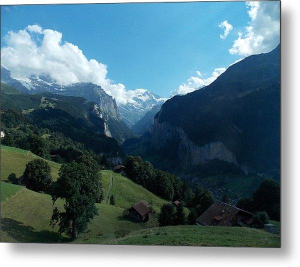 Wengen View Of The Alps Metal Print