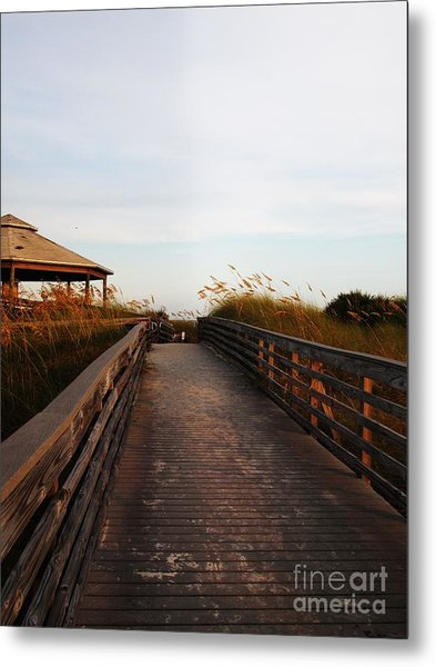 Went For A Stroll On The Boardwalk Metal Print by Meghan Pettis