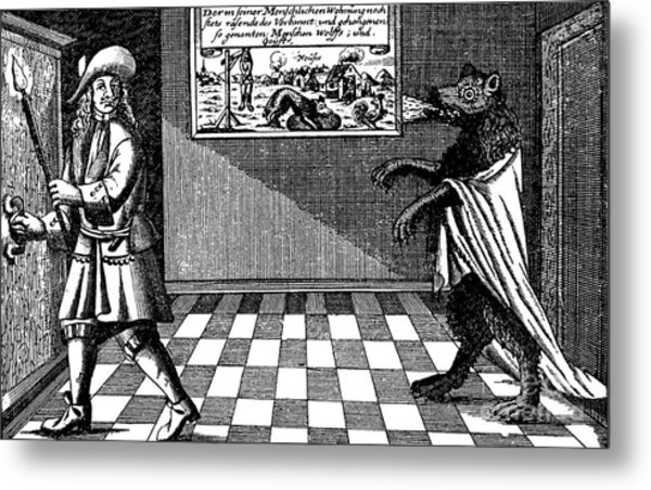 Werewolf Of Ansbach, 1685 Metal Print