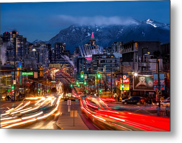 West Broadway And Cambie Metal Print