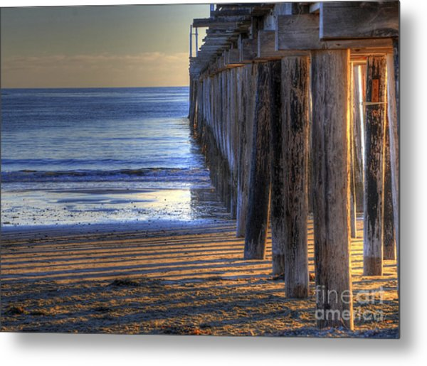 West Coast Cayucos Pier Metal Print