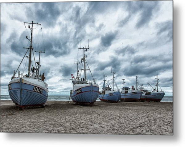 West Coast Fishing Boats. Metal Print