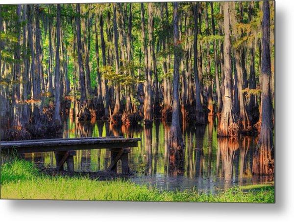 West Monroe Swamp Dock Metal Print