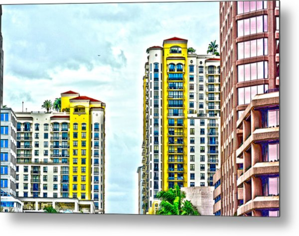 West Palm Skyline Metal Print
