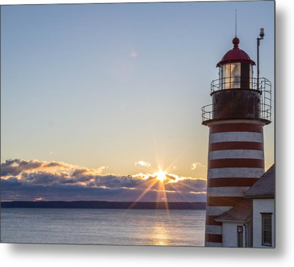 West Quoddy Lighthouse Sunrise Metal Print